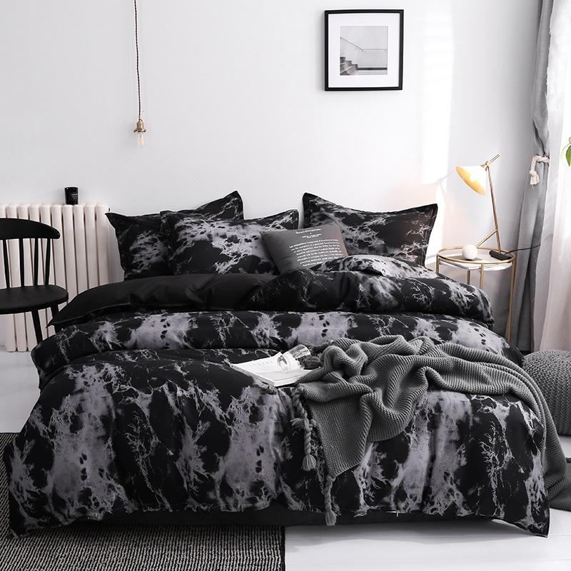 Drei Stück Mode Bettwäsche Sets Gedruckt König Königin Größe Luxus Quilt Cover Kissenbezug Duvet Marke Bett Bettdecken Set Hohe Qualität