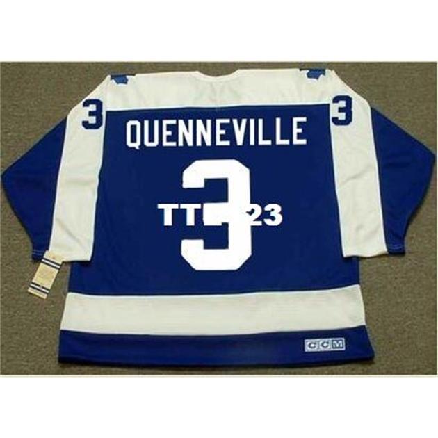 Hombre # 3 Joel Quenneville Toronto Maple Leafs 1978 CCM Vintage Hockey Jersey o personalizado Cualquier nombre o número Jersey Retro