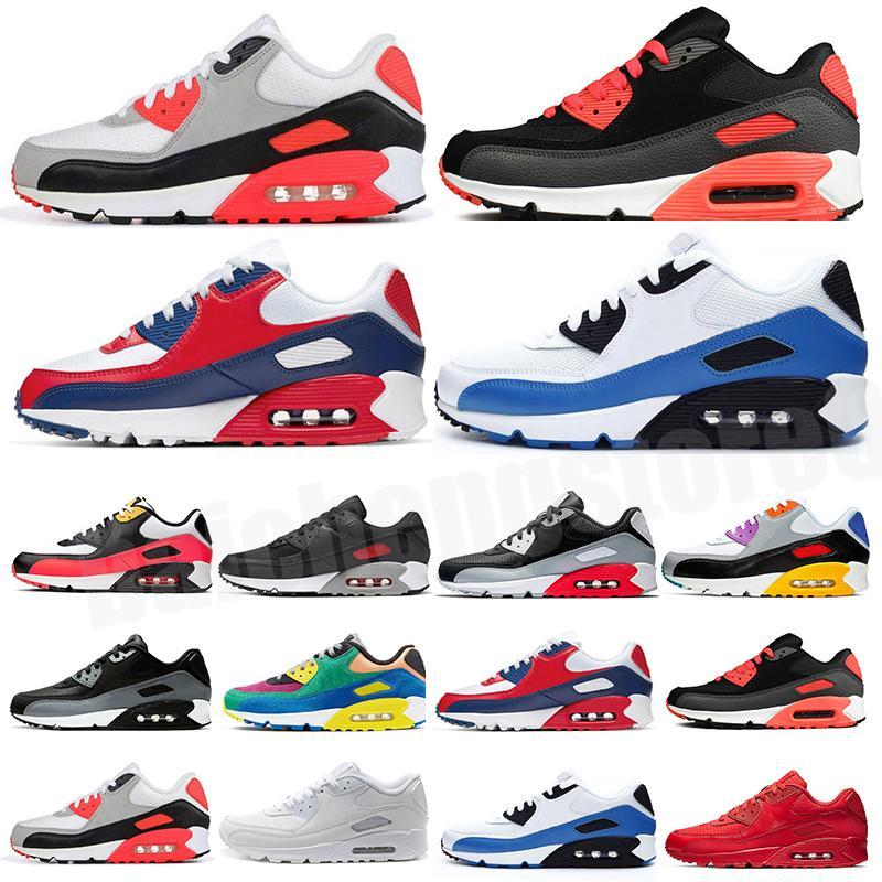 Air max 90 2020 Cojín de venta caliente 90 zapatos para correr hombres 90 de alta calidad nuevas zapatillas de deporte barato Zapato deportivo Tamaño 40-45 B-41