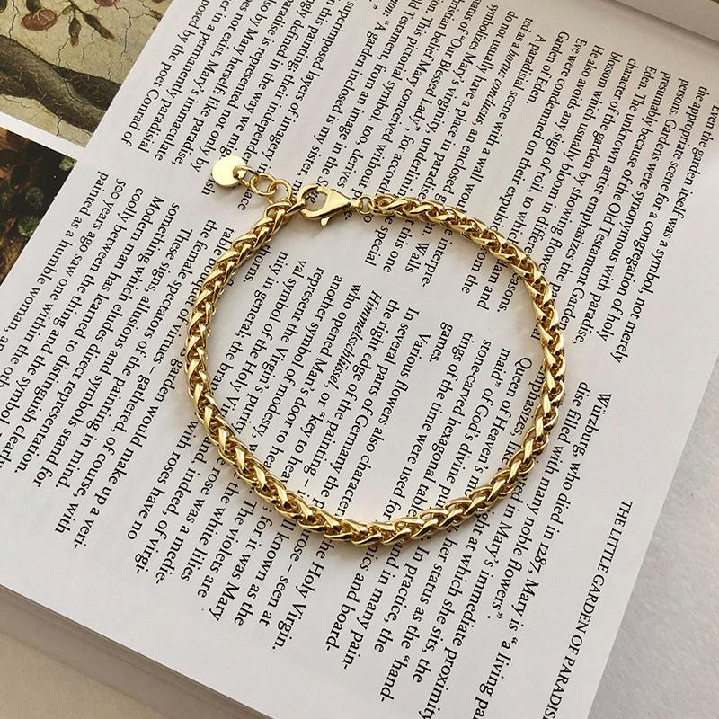 Silvology 925 Sterling Silver Chain épais Bracelets 18K Gold Minimaliste Haute Qualité Haute Qualité Chaîne Femme Bracelets Party Bijoux Q1201