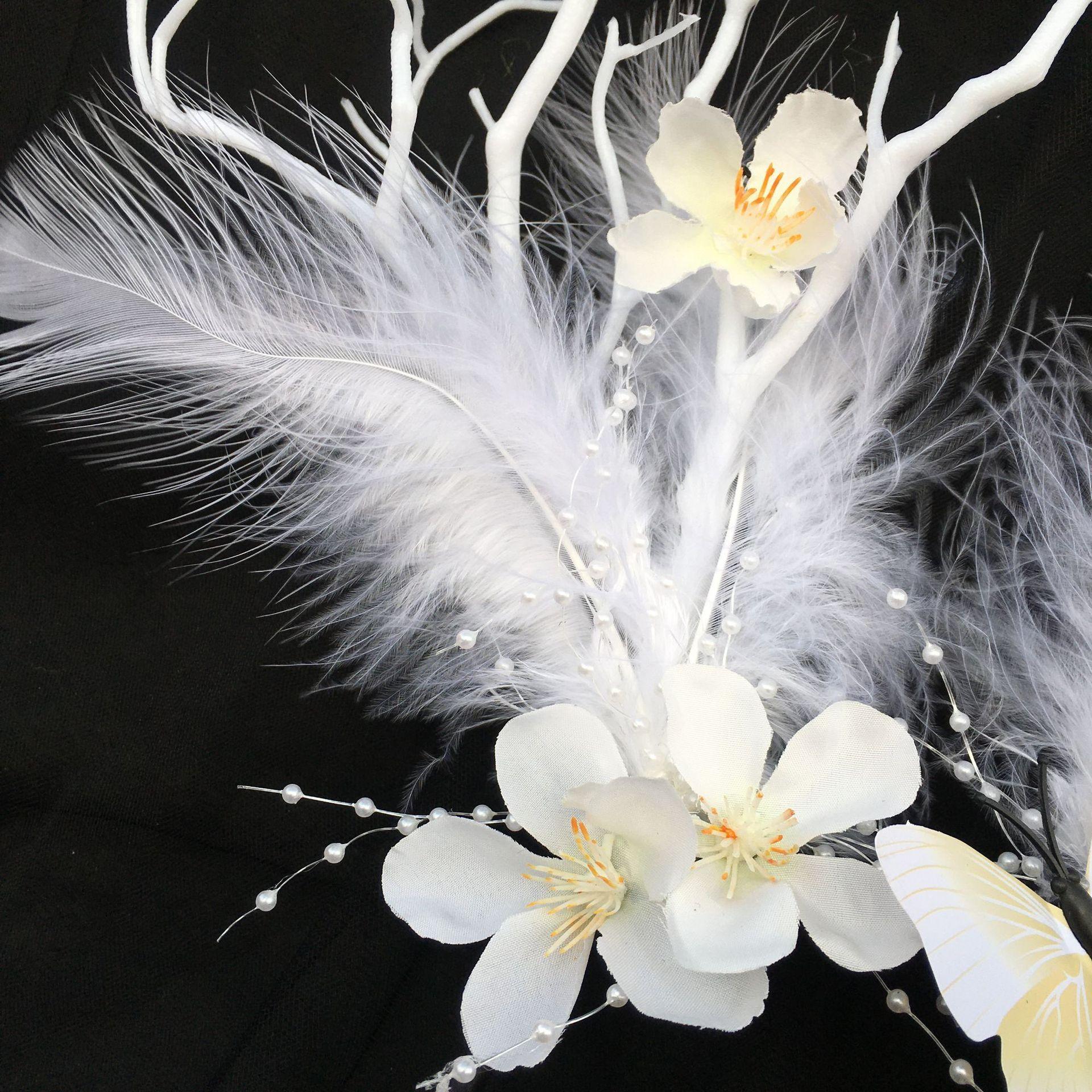 Museo Europeo Adornos Dialectos Cuelga Simulación Asas Ramas Booth Hebillas Hebillas Flores Mariposa Fairy Photography Cabeza