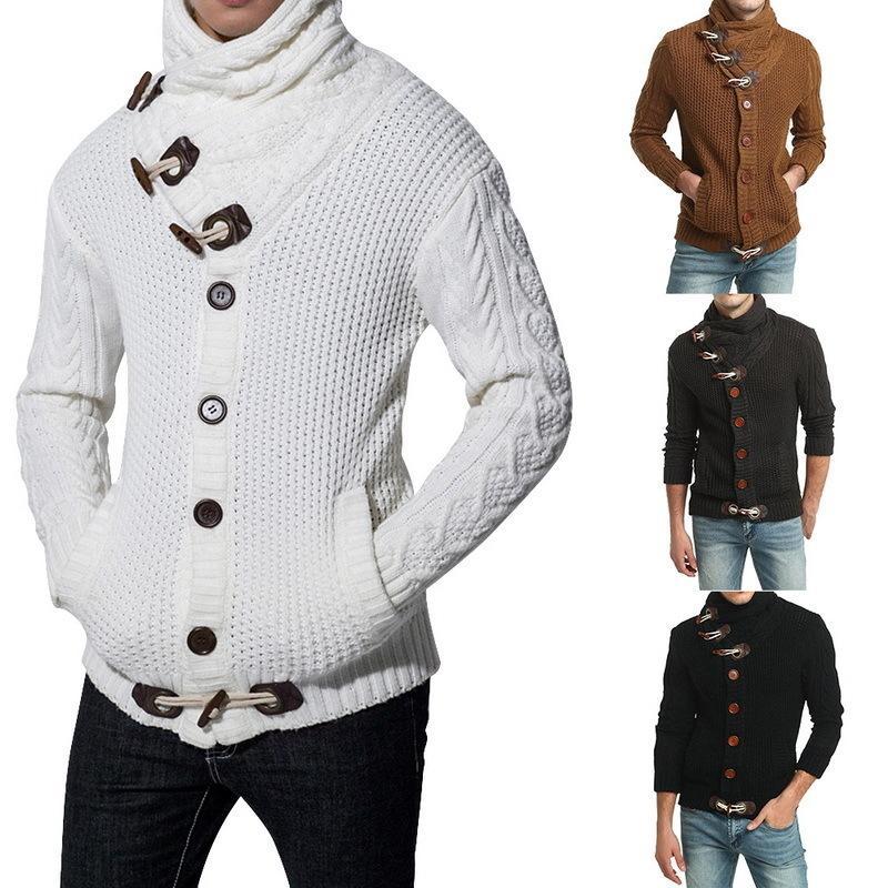 Maglione del cardigan del Nibesser Maglione maschio Autunno Pull Homme Maglione da uomo Casual Casual Knitting Jumper Maglione Cappotti maschii Plus Size 3XL 201203