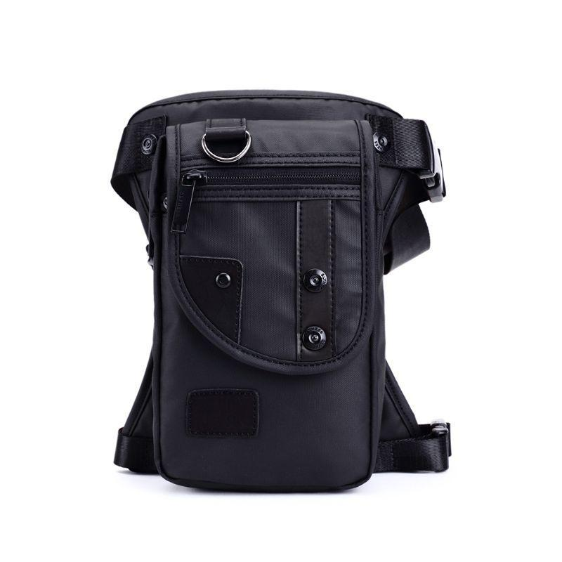 Uomo Impermeabile Oxford Vita Gamba Borsa Drop Travel Moto Tactical Pouch