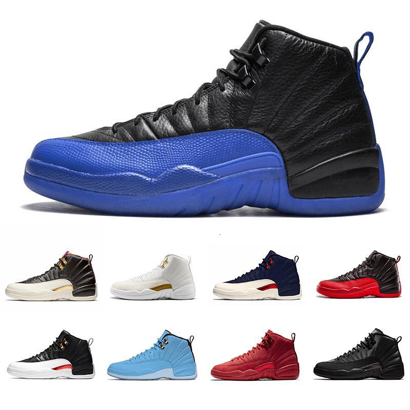 Jeu cool royal sombre gris hivernisée 12 xii 12s hommes de basketball chaussures de basket-gym Gym Reverse Taxi Français Blue Blue Wolf Grey Sports sportifs sportifs d'athlétisme