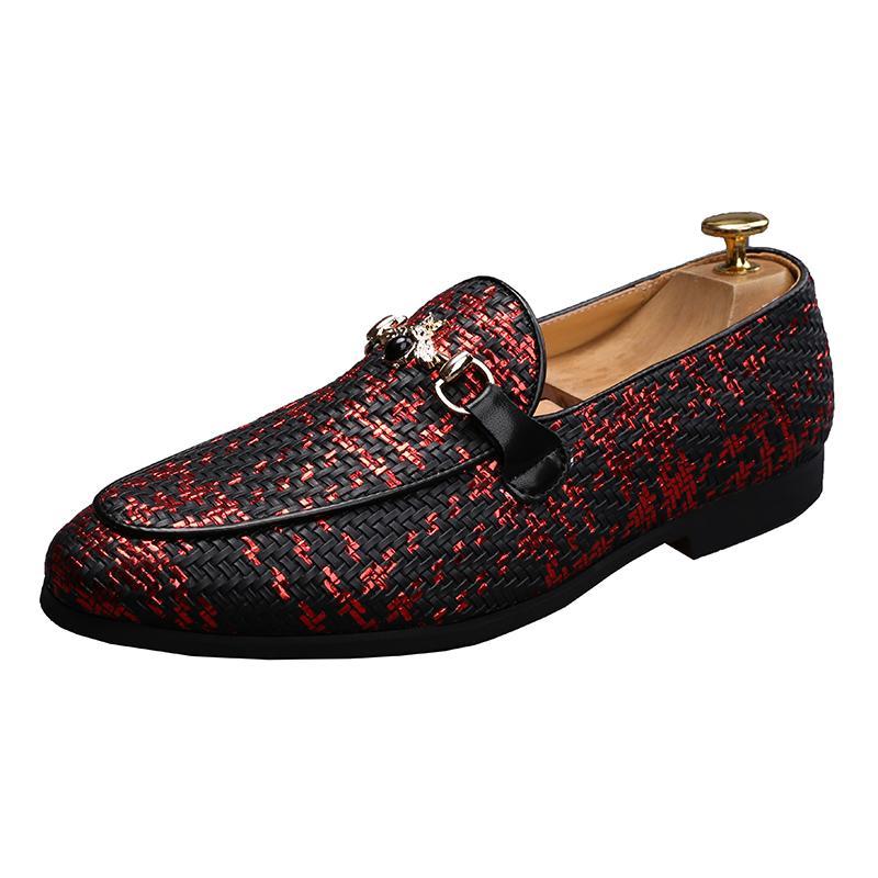 2021 Trend Männer Kleid Ultrafeine Bräutigam Schuhe Metallknopf High-Grade-Abschlussfeier