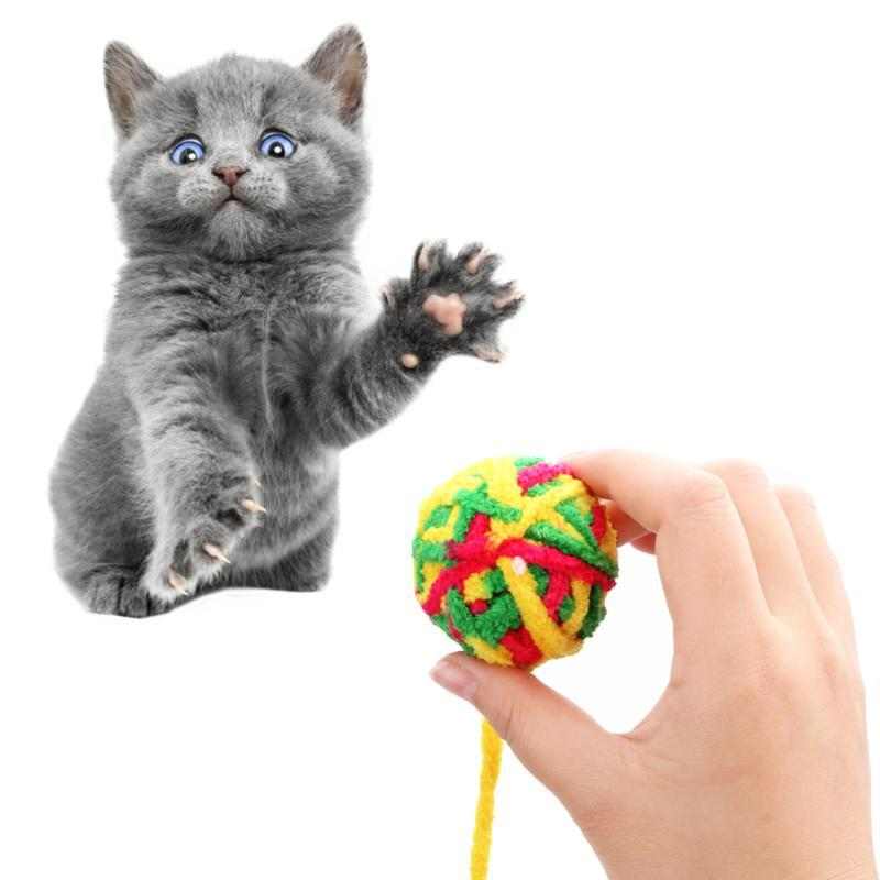 Dentes de estimação Cleaner Cat Teaser Cat Football Training Treiny Brinquedos Pet Brinquedos Corda Weave Ball Products mastigrafia