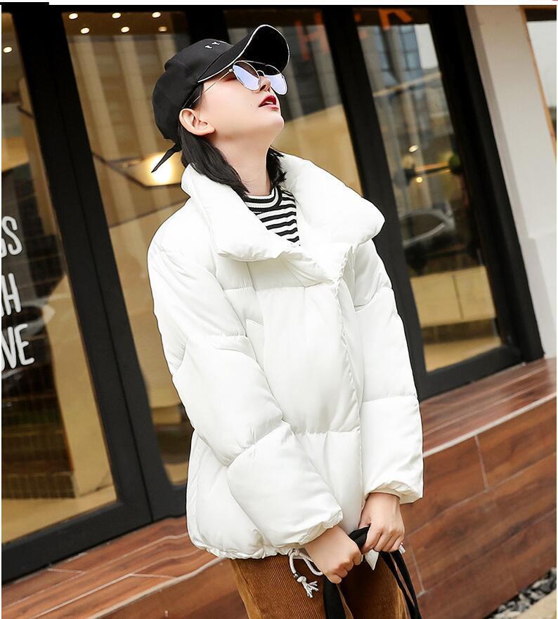 Мода повседневная ватная ватная куртка зимняя куртка женская стойка воротник короткое хлопок пальто женские толстые теплые Parkas высокое качество 201125