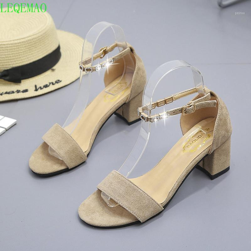 Zapatos Sagace de Cuero Para Mujer, Sandalias Con Hebilla Para Mujer, Sandalias de Goma La Playa, Zapatos Tacón Bajo Par1