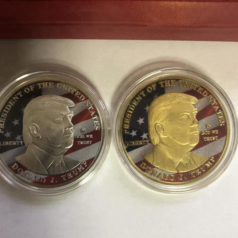 Präsident Donald Trump Gold Medaille 2020 US-Wahlbedarf Souvenir-Münze Trump Druckmetall Gedenk DDA349
