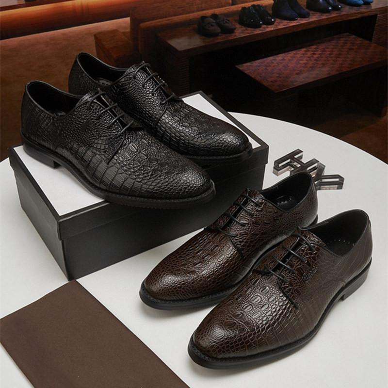 Venta caliente Buscar diseñadores similares zapatos elegantes hombres oxfords zapatos de vestir de cuero genuino de cuero formal boda de alta calidad resbalón en zapatos de negocios