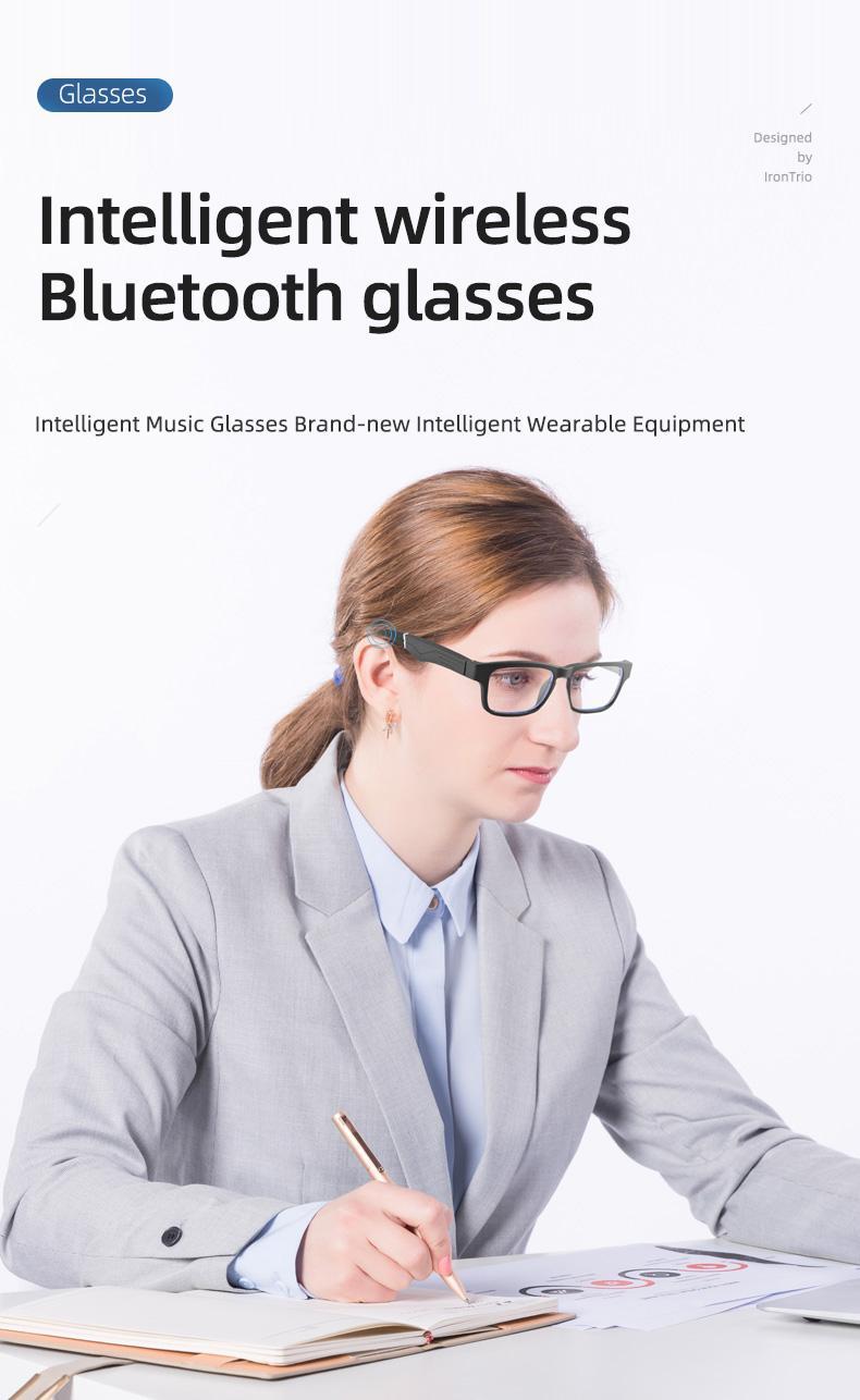 T1 Verres plats de Bluetooth Bluetooth Bluetooth Bluetooth Sports en plein air Sports de plein air Nurs Stereo avec Casque Wireless Eyewear