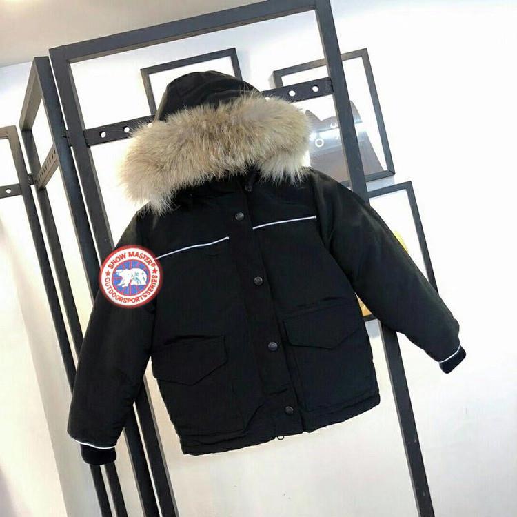 Kış Tercih Edilen Çocuk Giyim Kanada Sıcak Kapüşonlu Kalın Sıcak Erkek Ve Kız Dış Giyim Yüksek Kalite Kaz Aşağı Ceket Çocuk Ceket