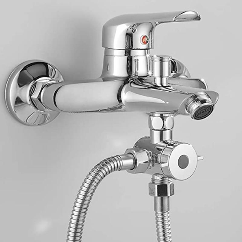 Séparateur d'eau Douche Tee Tee Adaptateur Tête de douche réglable Vanne Duplatation 3 Way Plastic Dutrongeur Valve Salle de bains Accessoires de salle de bain