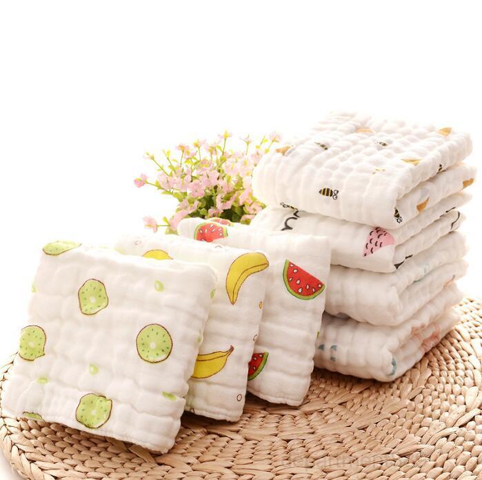 Muslin Towels Algodão gaze arrota panos macio bebê rosto toalha recém-nascido lenço lancheta infantil cobertor 16 designs owb3001