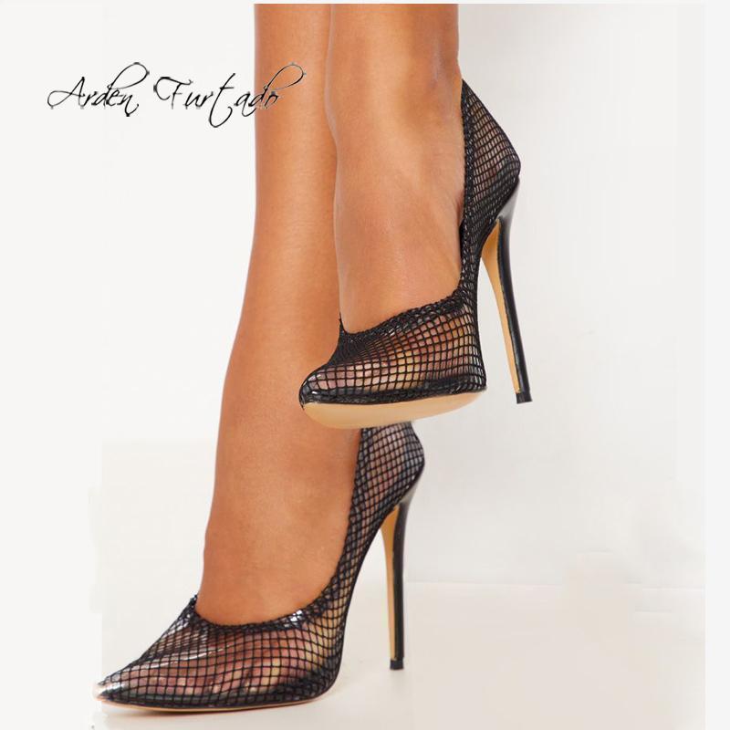 ARDEN FURTADO 2021 Spring Fashion Chaussures Femme Femme Pointe Toe Side Stilettos Talons Stiletos Chaussures de fête Slip sur des pompes élégantes sexy1
