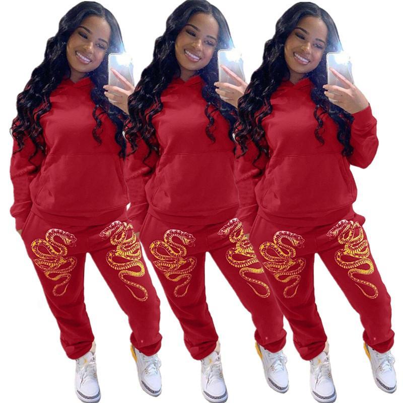 Kadın Artı Boyutu 2 Parça Setleri Güz Kış Giysileri Koşu Kazak Pantolon Spor Hoodies Tayt Kıyafetler Giyim Bodysuits Spor Salonu 0762
