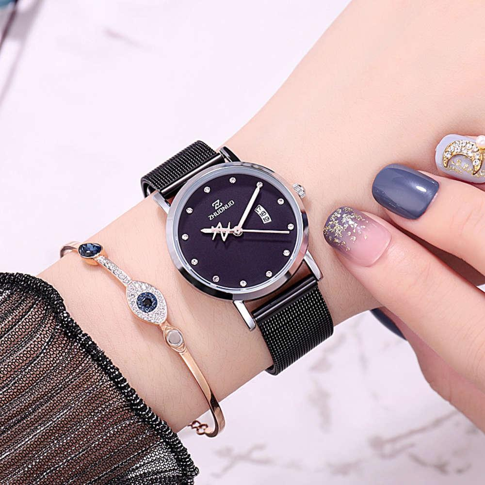 fashion women 2019 simple girls watch spiral crown quartz watch slim waterproof luminous women's Watch
