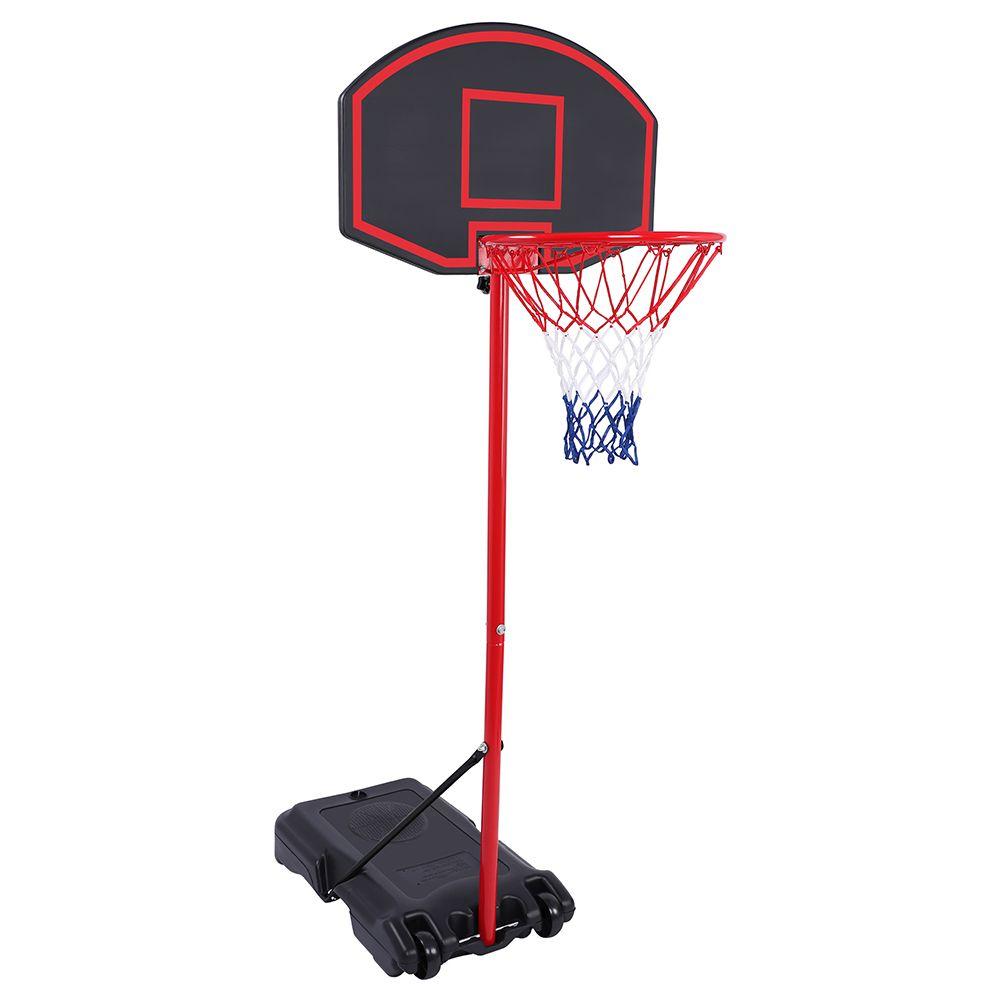 Детские баскетбольные стойки в крытый спортивный спортивный съемный съемный портативный подросток баскетбол стойки черный красный корабль из США