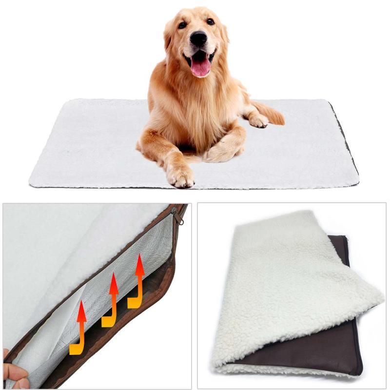 الحيوانات الأليفة حصيرة سوبر لينة الصوف الذاتي التدفئة الحيوانات الأليفة السرير حصيرة دفئا جرو الكلب الوسادة pet قابل للغسل بطانية للقطط الكلاب