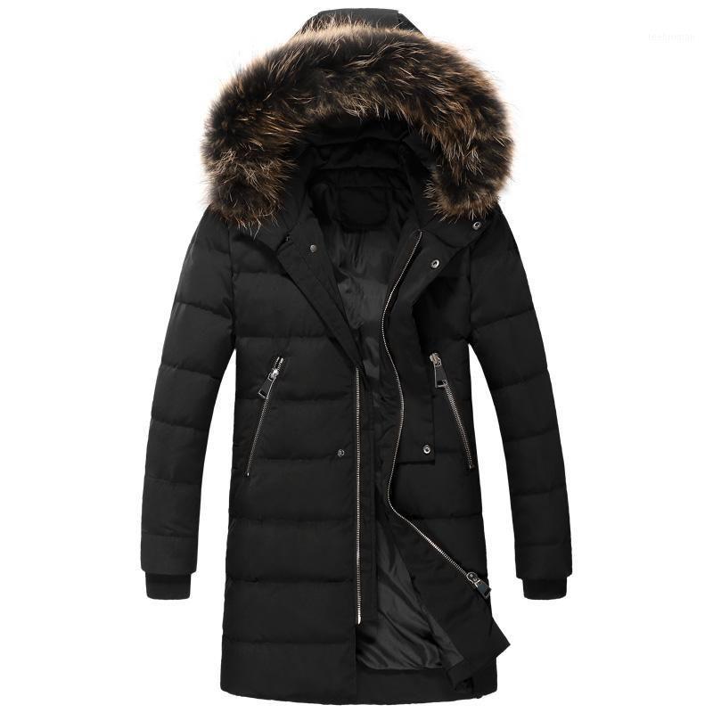 Wholesale- 2016 Winter Keep Warm White Duck Down Black Hoody Long Jacket Men, M,L,XL,2XL,3XL,4XL Coat Men1 Men's & Parkas