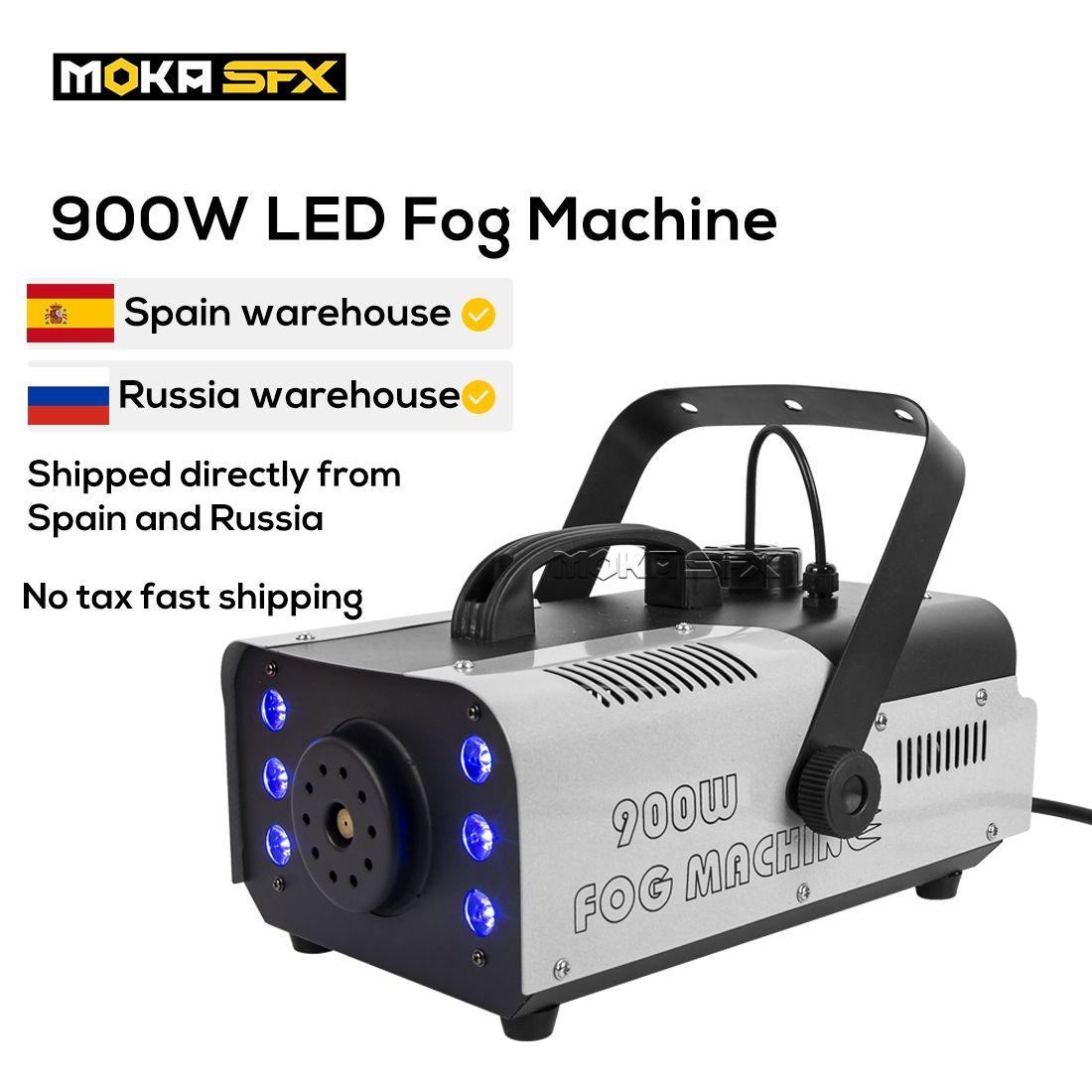 MOKA 900W Led Macchina per fumo Controllo della macchina per la nebbia Professional DJ Attrezzature per club Pub Stage Party Effetti speciali