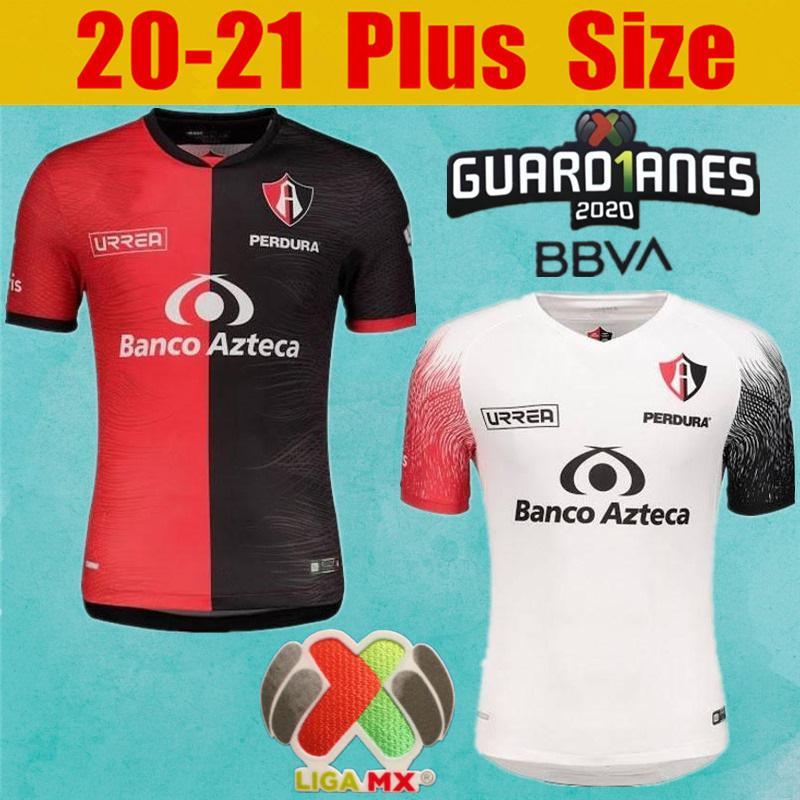 S-4XL Liga MX 20 21 Atlas FC Futebol Jerseys Home L.reyes I.Jeraldino Acosta I. Renato J. Angulo Camisa de Futebol Mail