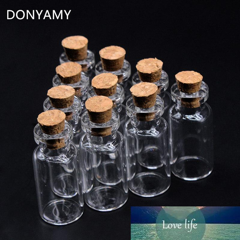 Neue großhandel los 500 stücke 16x35 mm winzige kleine klare kork glasflaschenfläschchen 2 ml für hochzeitsurlaub dekoration weihnachtsgeschenke