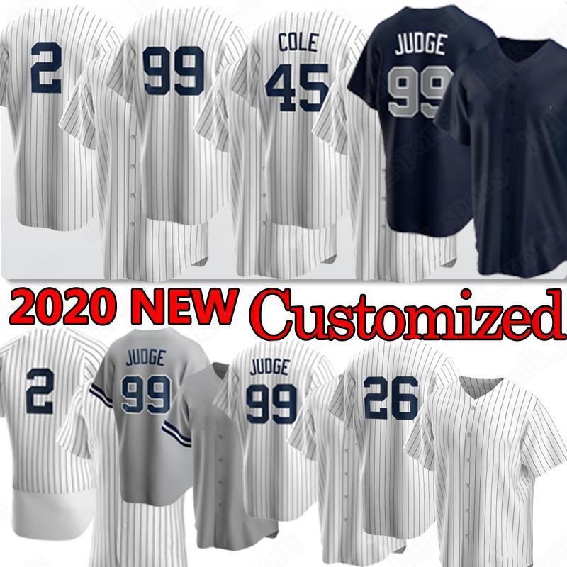 99 Aaron Richter 2 Baseball-Trikots Derek Jeter 45 Cole 26 dj lemahieu 25 Gleyber Torres Custom Jersey 2020 Männer