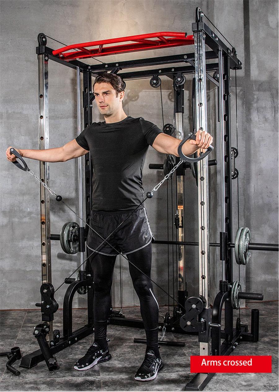 Pinze a mano Nuovo Smith Machine Acciaio Squat Rack Rack Gantry Frame Fitness Home Comprehenny Training Device GRATIS SQUAT Panca per panca