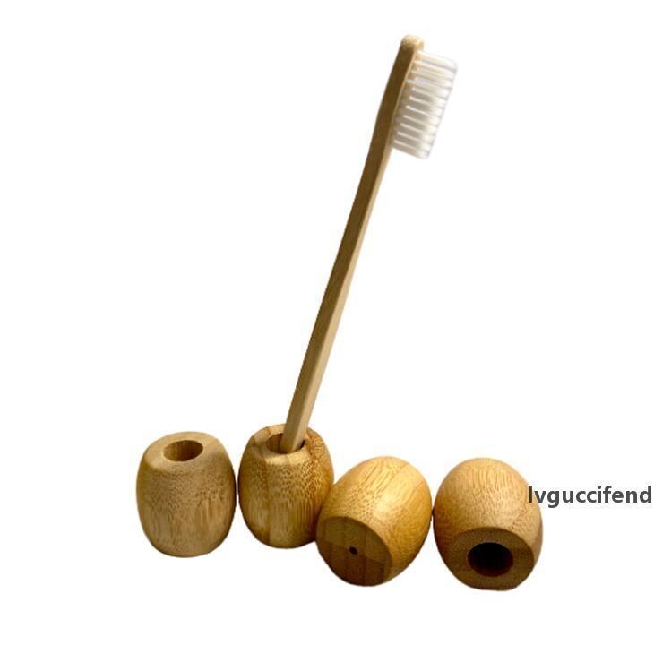 Bambu Diş Fırçası Tutucu Ahşap Banyo Diş Fırçası Standları Diş Fırçası Çerçeve Bambu Seyahat Taşınabilir Banyo Kılıfı Malzemeleri LX1650