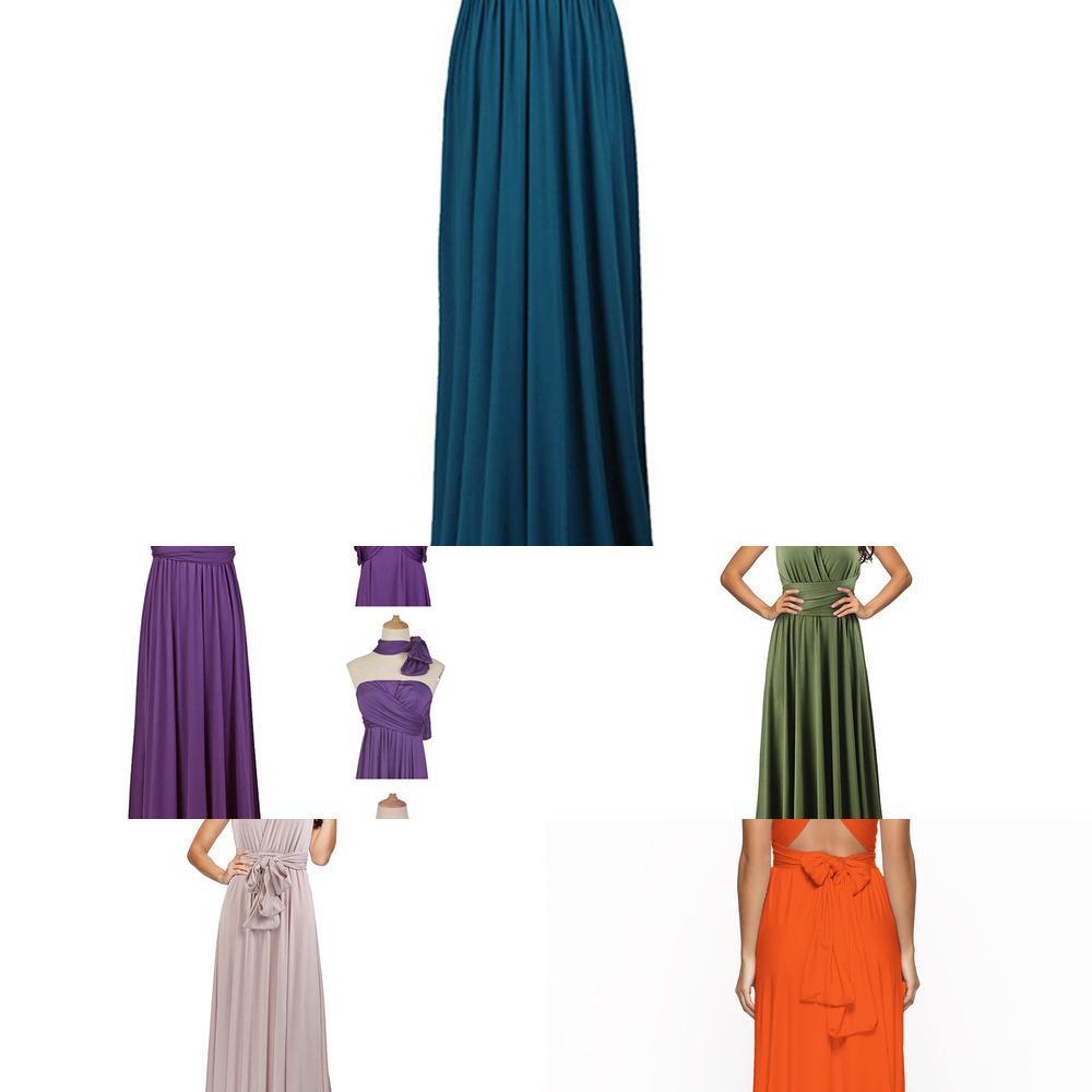 Verano sexy mujeres maxi vestido rojo infinito vestido largo múltiples jamones de honor convertible envoltura de fiesta vestidos de fiesta robe longue femme j1215