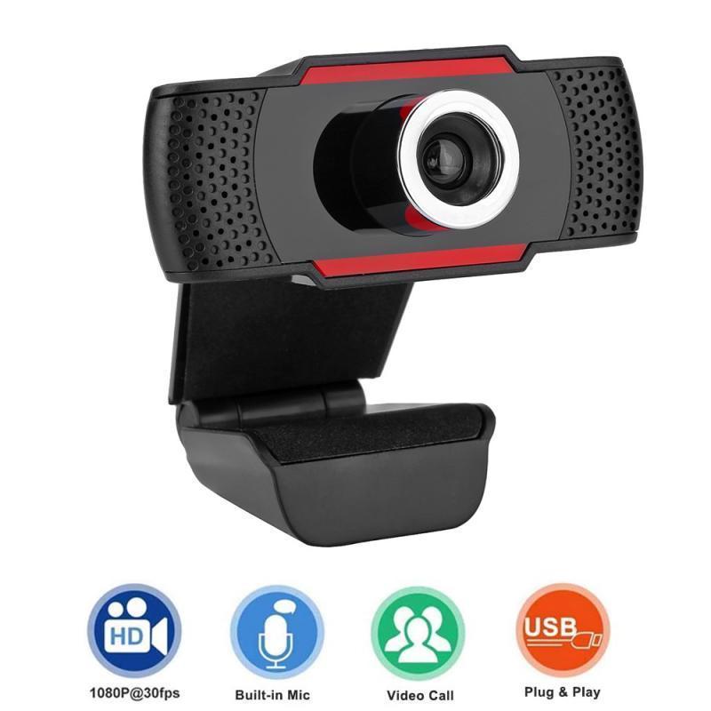 Веб-камера HD 1080P веб-камера Webcam USB2.0 видео звонок с микрофоном для компьютерного компьютера ноутбук видео конференц-связь NetMeeting 30 градусов Rotatuble