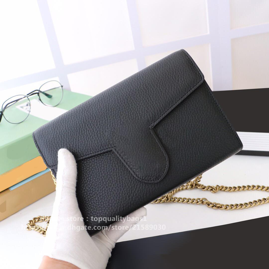 2020 Nuovo Designer di alta qualità Donnes Classic Letter Banco a spalla Borsa in vera pelle di lusso con scatola 20x13x6cm 401232 Shipin gratuito