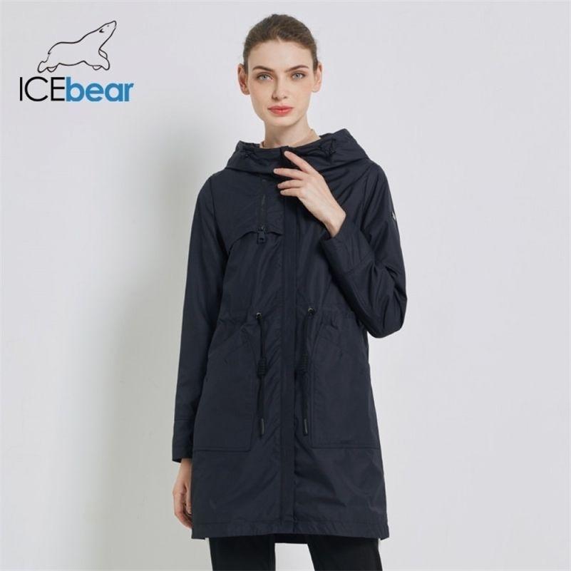 Ледяная осень Новая женская ветровка с капюшоном женское пластовое пальто повседневной женской одежды свободная длинная длинная одежда GWF19023I 201221