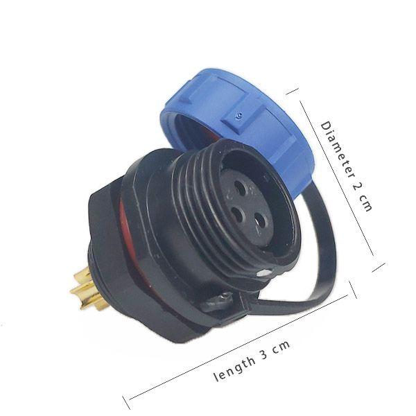 20 шт. Водонепроницаемый разъем GM1312 S / 3P 13A 250V Припоя или винт Образец мужского и женского разъема