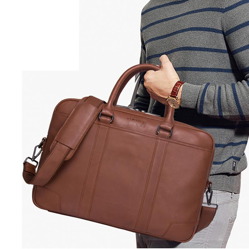 Erkek evrakları hakiki deri messenger çanta yeni moda erkek omuz çantaları laptop çantası büyük casual çanta hediye erkekler için