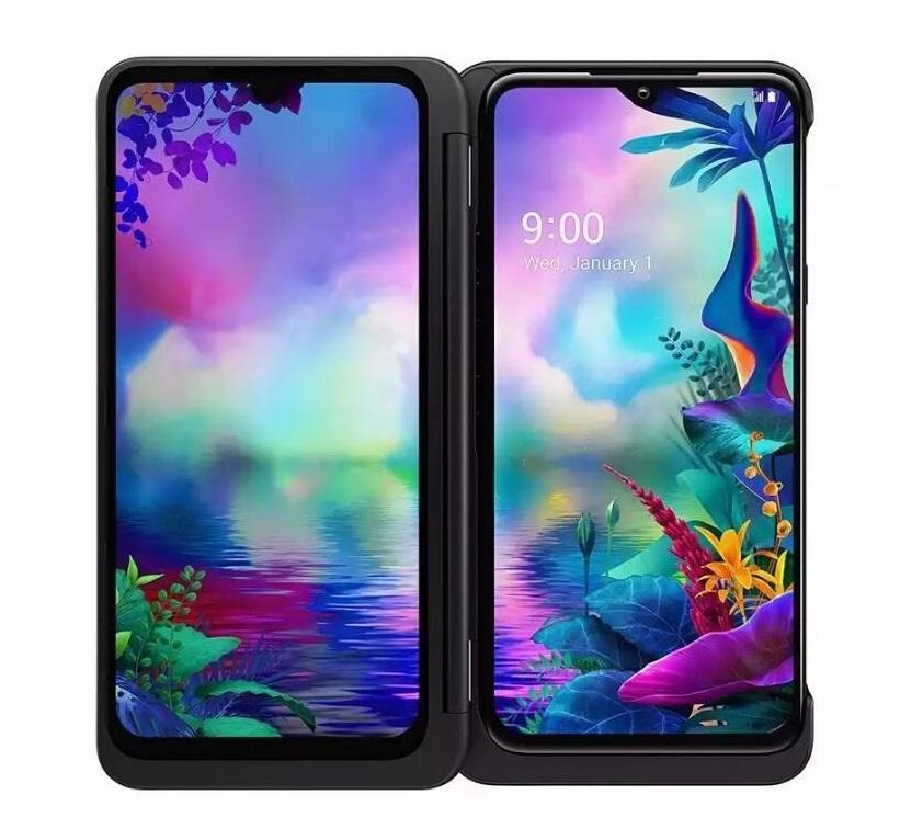 تم تجديده الأصلي LG V50S TUPQ LM-V510N الهاتف الخليوي مقفلة 8GB / 256GB 6.4 بوصة 32MP بصمة الوجه شبكة 5G