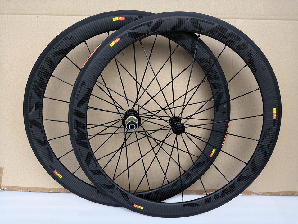 أفضل بيع خفيفة فائقة الخفيفة كوني كوني عجلات الكربون 700c 50 ملليمتر الفاصلة 25 ملليمتر عرض powerway r36 سباق الطريق الدراجة العجلات