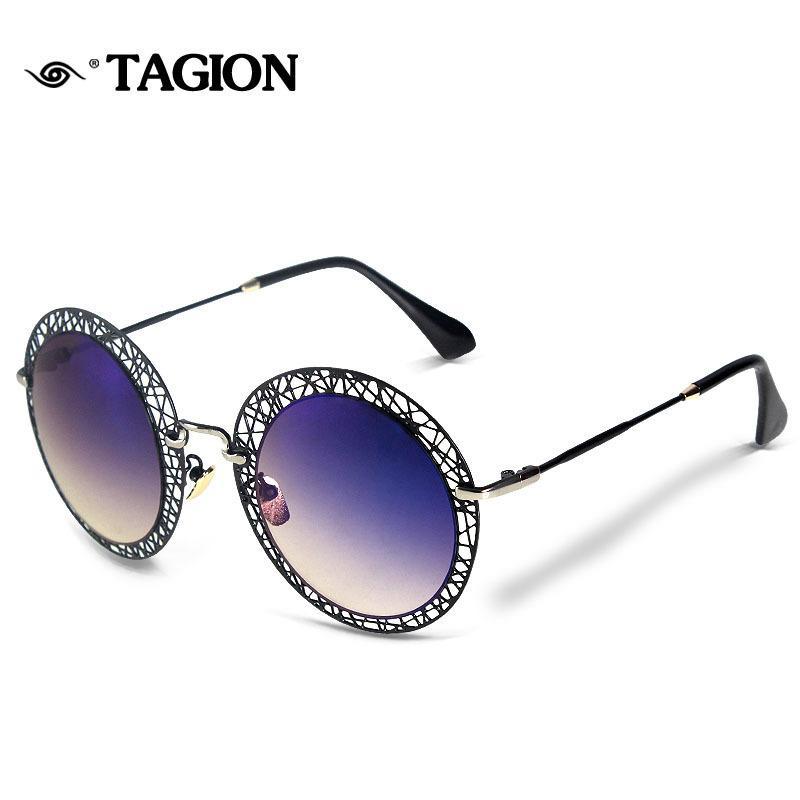 2020tagion Aushöhlen Rahmen Sonnenbrillen für Frauen Fahion Marke Brille 6814