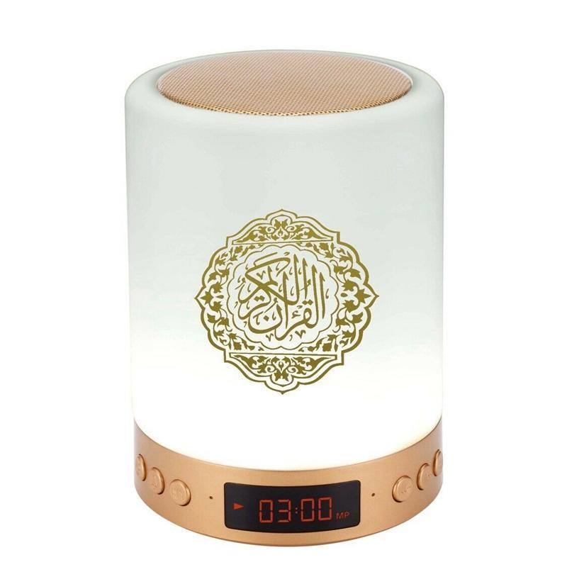Lampada altoparlante Bluetooth Corano con telecomando Contatto Lampada da luna Lampada Moonlight Supporto MP3 FM TF Card Radio