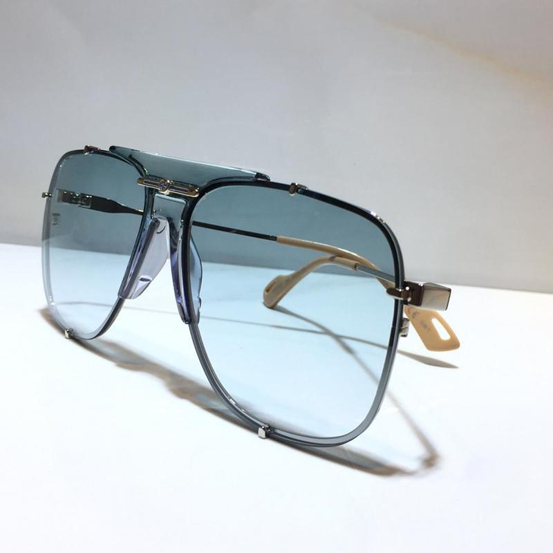 NOUVEAU Mode 0739S Design Lunettes de soleil UV Protégez la lentille sans cadre avec Metal 0739 Souchage de style carré Lunettes de soleil Populaire Qualité supérieure avec étui