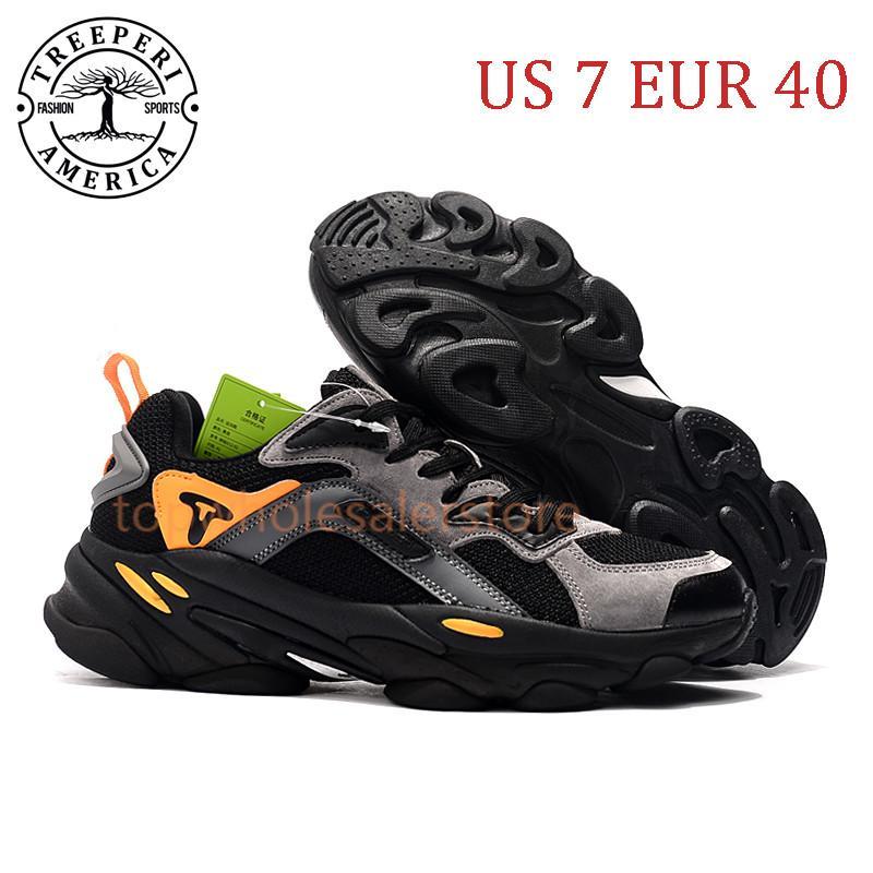 أفضل تريبيري الأزياء مكتنزة 700 لينة أحذية ركض وحيد أسود رمادي برتقالي الولايات المتحدة 7 يورو 40 للرجال المدربين