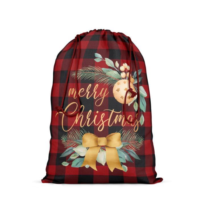 أحدث 64x48 سم الحجم، العديد من الأساليب، حقيبة هدايا عيد الميلاد، حقيبة عيد الميلاد، زينة عيد الميلاد، حقيبة الحلوى، الخيش، حرية الملاحة