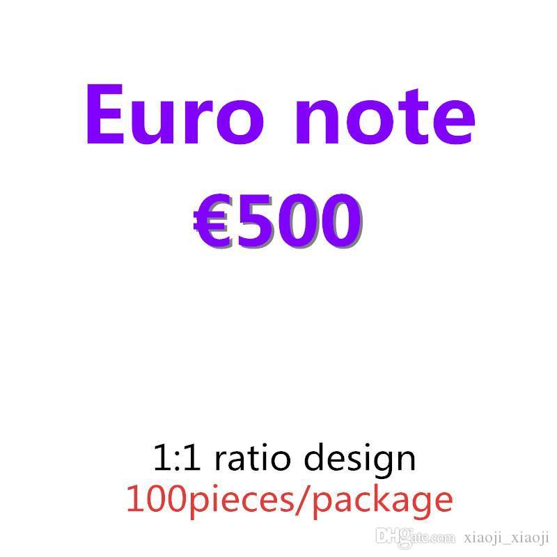 Top-Papier Talend Geld und Geschenke Pfund Kollektion Qualität 100pcs / Packung Banknote Prop 500 01 Dollar Geld Euro Supplies Kopieren Sie vkolk