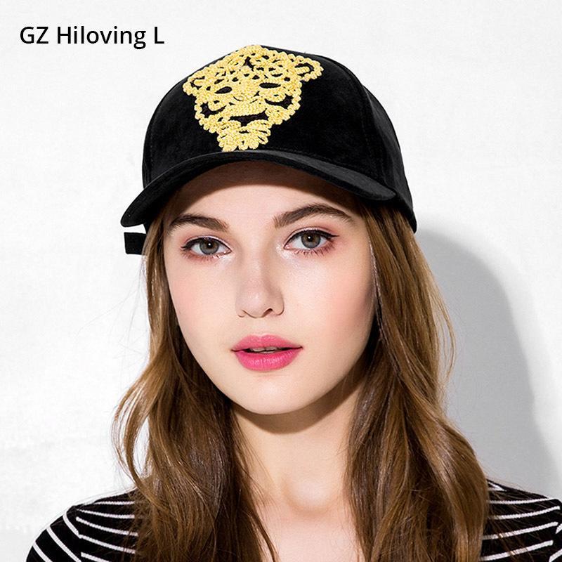 Gzhilovingl moda feminina boné de beisebol de verão verão boné de camurça legal lantejoulas de tigre hip hop cap bonés chapéus casuais meninas caps j1210