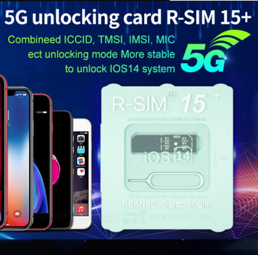 Original RSIM 15 R-SIM 15 Plus R-Sim Smart Activation Desbloquear cartão de desbloqueio do cartão SIM para iphone 7 8 x XS XR 11 12 Pro Max para editar ICCID