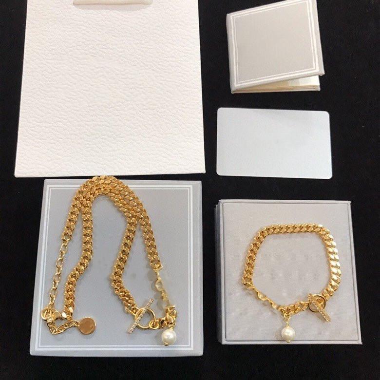 NOUVEAU Collier de mode pour femme Gold Collier perle Chaîne Gem Collier de haute qualité Collier Bijoux Bijoux Bracelet
