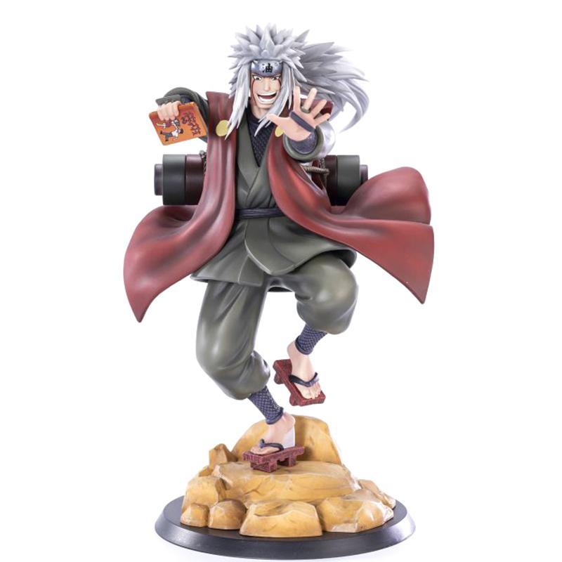 Naruto Shippuden Anime Figrue Jiraiya Gama Sennin PVC Figura Figura Estátua Colecionável Toy Desktop Decoração Figma boneca 20cm Q1217
