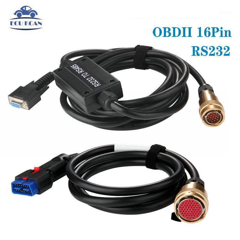 Диагностические инструменты Высокое качество 232-485 OBD II 16 PIN-кабель с платой PCB для MB Star C3 Мультиплексор красный интерфейс Fast Ship1