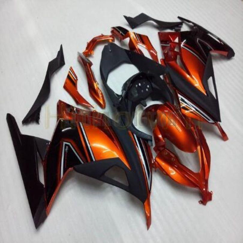 Feedings de motocicleta para laranja preto kawasaki ninja 300r kits ninja 300 zx 300 2013 2014 EX300 2016 2017 2015 kits de carroçaria